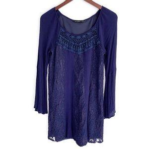 Blu Pepper Lace Boho LS Dress size S